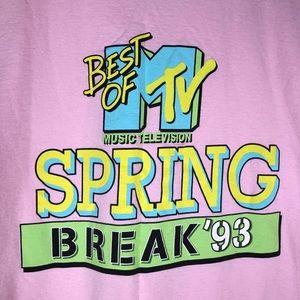 MTV Spring Break '93 Vtg Style Graphic T-shirt